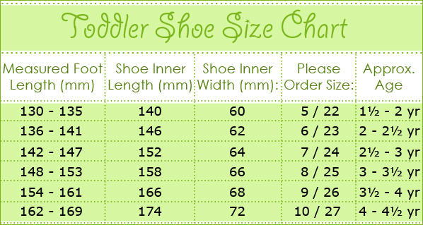 Childrens Shoe Size Ruler