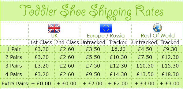 Kidz Shooz Toddler Shoe Shipping Rates