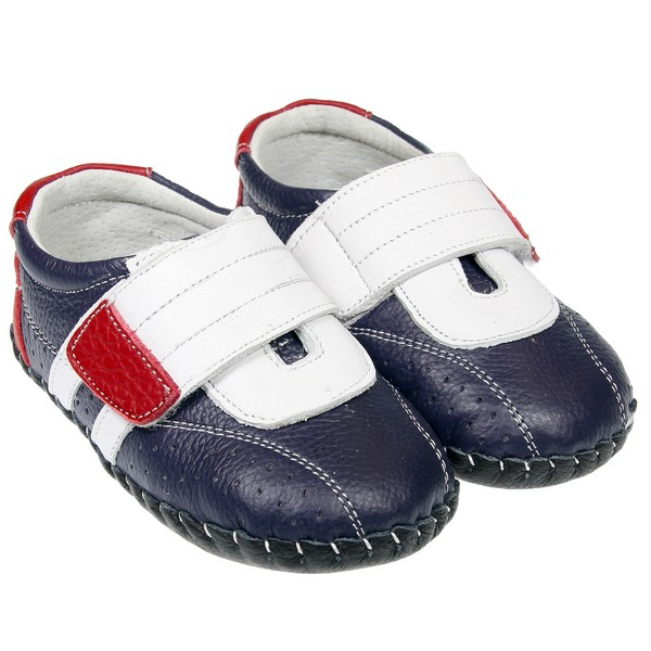 boys toddler leather soft sole baby shoes navy blue