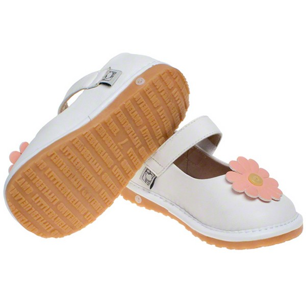toddler leather squeaky shoes matt white janes