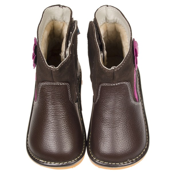 boys toddler childrens real leather suede squeaky