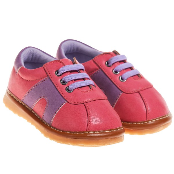 blue toddler pink purple squeaky shoes