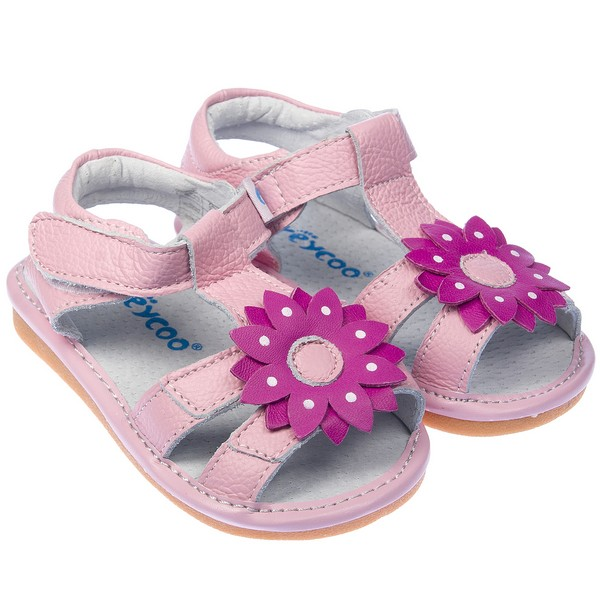 toddler childrens real leather squeaky shoes sandals