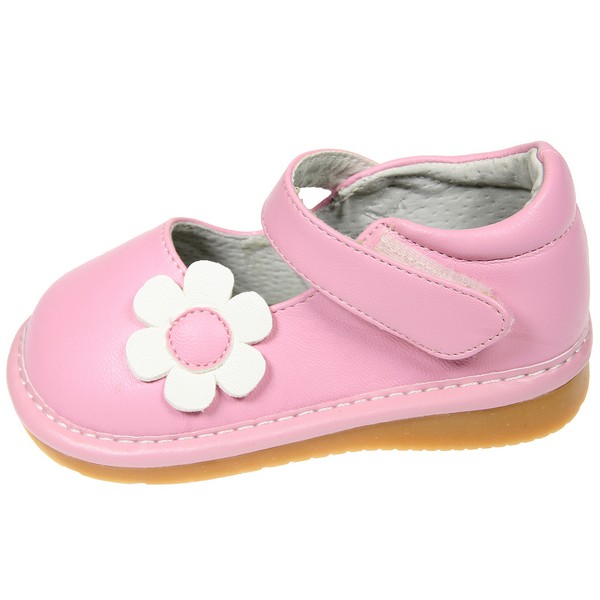 blue toddler leather squeaky shoes
